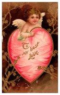11189  Valentine's  Cupid Inside Pink Heart - Valentine's Day