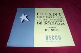 CHANT GREGORIEN  CHOEUR DES MOINES DE L'ABBAYE ST PIERRE DE SOLESME / CHANT DE NOEL - Weihnachtslieder