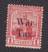 Trinidad And Tobago, Scott #MR13, Mint Hinged, Britannia Surcharged, Issued 1918 - Trinidad & Tobago (...-1961)