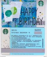 China 2017 Starbucks Card Happy Birthday Coffee Cup Gift Card RMB100 - Chine