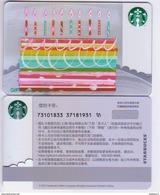 China 2017 Starbucks Card Happy Birthday Cake Gift Card RMB100 - Chine