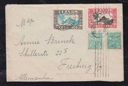 Brazil Brasil 1935 Cover 700R Rate To FREIBURG Germany Dia De Crianca Stamps - Brésil