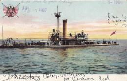 USS Miantonomah US Navy Monitor Warship 1874-1907, C1900s Vintage Postcard - Warships