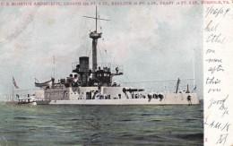 US Monitor Amphitrite US Navy Warship 1874-1919, C1900s Vintage Postcard - Guerra