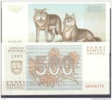 1993. Lithuania, 500 Talons, P-46, UNC - Lithuania
