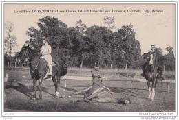 47) DURAS -   LE CELEBRE Dr ROUHET ET SES ELEVES FAISANT TRAVAILLER SES JUMENTS CARMEN OLGA ARIANE - France