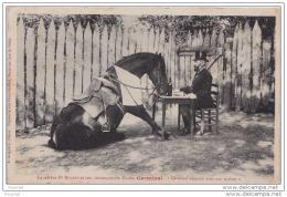 47) DURAS - Le Célèbre Dr Rouhet Et Son Incomparable étalon Germinal ,déjeune Avec Son Maître - (thème Cheval - 2 Scans) - France