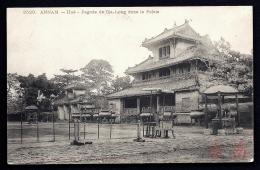 CPA ANCIENNE- INDOCHINE FRANCAISE- ANNAM- HUÉ- PAGODE DE GIA-LONG DANS LE PALAIS- TRES GROS PLAN - Vietnam