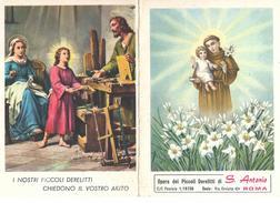 CALENDARIETTO RELIGIOSO: ANNO 1962 - OPERA DEI PICCOLI DERELITTI DI S. ANTONIO - ROMA - A - Mm. 75 X 103 - Religione & Esoterismo