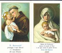CALENDARIETTO RELIGIOSO: ANNO 1959 - COLLEGIO FRATINI DI S. ANTONIO - CHIAMPO (VI) - A - Mm. 66 X 115 - Religione & Esoterismo
