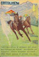 Lotteria Ippica Di Merano Del 1935 (ill.scarafoni/visionare Retro Scansione) Cartolina Pubblicita - Pubblicitari