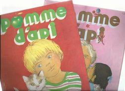 REVUE JEUNESSE - POMME D'API - LOT DE 2 - DECEMBRE 1976, JUIN 1977 - Nos 130 - 136 - Bücher, Zeitschriften, Comics