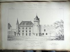 LE RECUEIL D'ARCHITECTURE 1877 -  # 73- MINOTERIE MODELE À BOURBON-L'ARCHAMBAULT (ALLIER),  Mr ROY Architecte - Architecture