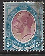 S.Africa: 1913, George V, 5/= Used - Used Stamps