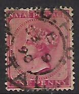 S.Africa: Natal, 1874, 1d, Crown CC Watermark Reversed, Used - South Africa (...-1961)
