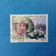 2005 ITALIA FRANCOBOLLO USATO STAMP USED - ALBERTO ASCARI - - 6. 1946-.. Repubblica