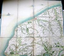 76 NORMANDIE BELLE CARTE ANCIENNE DU PAYS DE CAUX  BOLBEC LE HAVRE YVETOT SAINT VALERY  XVIII° SIECLE COLORIS D'EPOQUE - Cartes Géographiques