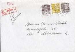 Denmark Registered Recommandé Einschreiben Label Bro IId BØRKOP 1983 Cover Brief 3-Colour Franking - Briefe U. Dokumente