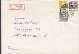 Denmark Registered Recommandé Einschreiben Label Bro IId HAMMEL 1983 Cover Brief 3-Colour Franking - Briefe U. Dokumente