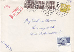 Denmark Registered Recommandé Einschreiben Label Bro IId ULSTRUP 1983 Cover Brief 3-Colour Franking Cz. Slania - Briefe U. Dokumente
