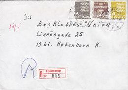 Denmark Registered Recommandé Einschreiben Label Bro IId TOMMERUP 1983 Cover Brief 3-Colour Franking - Briefe U. Dokumente