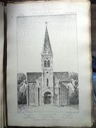 LE RECUEIL D'ARCHITECTURE 1877 -  # 78- EGLISE DE BIRIEUX DEP. DE L'AIN , Mr JOURNOUD Architecte - Architecture