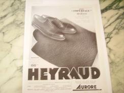 ANCIENNE PUBLICITE CHAUSSURE HEYRAUD IMPERIAL HOMME 1933 - Habits & Linge D'époque