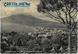Campania-castellammare Di Stabia Veduta Panorama Citta' E Vesuvio Anni 50 - Castellammare Di Stabia