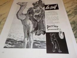 ANCIENNE PUBLICITE SOURCE  PERRIER LA SOIF 1939 - Posters