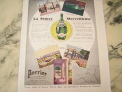 ANCIENNE PUBLICITE PERRIER LA SOURCE MERVEILLEUSE 1933 - Posters