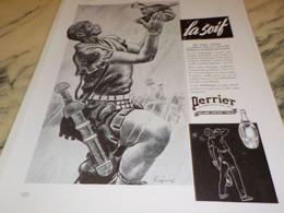 ANCIENNE PUBLICITE PERRIER LA SOIF ROMAIN 1939 - Perrier