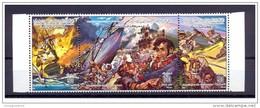 "1985- Libya- The Battle Of The American Frigate ""Philadelphia"" – Ship- Strip Of 3 Stamps – MNH** - Libye"