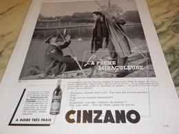 ANCIENNE PUBLICITE CINZANO LA PECHE 1939 - Posters