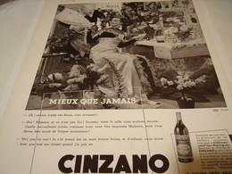 ANCIENNE PUBLICITE CINZANO MIEUX QUE JAMAIS 1939 - Posters