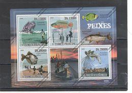 S. Tome E Principe Nº 4104 Al 4107 - Fische