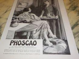 ANCIENNE PUBLICITE CHOCOLAT PHOSCAO 1933 - Posters