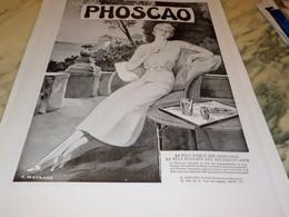 ANCIENNE PUBLICITE CHOCOLAT PHOSCAO 1932 - Posters