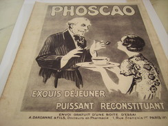 ANCIENNE PUBLICITE CHOCOLAT PHOSCAO EXQUIS 1933 - Posters