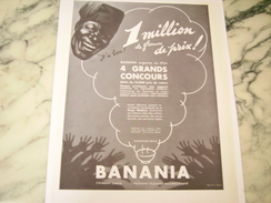 ANCIENNE PUBLICITE CHOCOLAT BANANIA 1933 - Posters