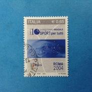 2004 ITALIA FRANCOBOLLO USATO STAMP USED - LO SPORT PER TUTTI - - 6. 1946-.. Repubblica