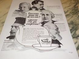 ANCIENNE PUBLICITE CAFE SANKA  1933 - Posters