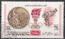 624 Mutawakelite K. Yemen 1968  Olimpiadi Messico Tiro A Segno B. Klinger Oro Gold Germany - Francobolli