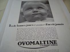 ANCIENNE PUBLICITE OVOMALTINE 1933 - Posters