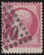 France   .    Yvert  .   24      .      O   .     Oblitéré - 1862 Napoleon III