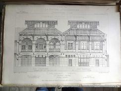 LE RECUEIL D'ARCHITECTURE 1877 -  # 85- ETABLISSEMENT THERMAL À LA BOURBOULE (PUY DE DOME), Mr CLANS Architecte - Architecture