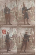 6 CPA Militaria Patriotique Soldat Furia Sabre Prusse Prussien Grandeur France Empire Barbare Tigres Germains Combat - Patriotiques