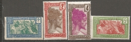 MADAGASCAR - YV N°  161A à 164  ** MNH  1c,2c,4c,5c,  Cote  1,1 Euros TBE  2 Scans - Nuovi