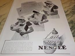 ANCIENNE PUBLICITE LAIT SUCRE NESTLE  1939 - Posters