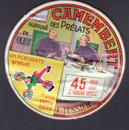 ETIQUETTE De Camembert LES PRELATS, Acrobatie - Fromage