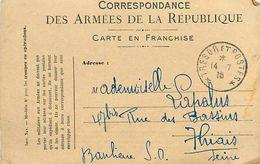A-17.7078 :  CORRESPONDANCE DES ARMEES CARTE FRANCHISE MILITAIRE - Marcofilia (sobres)